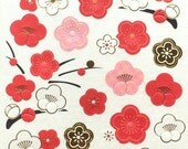 Plum Blossom Stickers - Japanese Stickers - Flower Stickers   (S2)