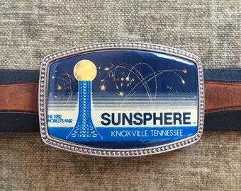 Sunsphere Belt Buckle - Knoxville Tenessee 1982 Worlds Fair