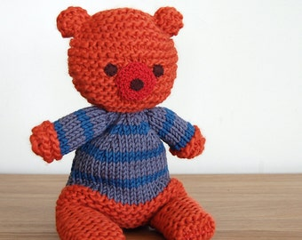 Teddy Bear, Unisex Baby Gift, Knitted Animals, Knitted Bear, Unisex Baby Shower Gift, Soft Toys, Bear, Toddler Gift, Baby Gift