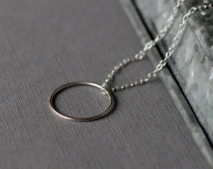 Circle Necklace - Sterling Silver - modern jewellery - handcrafted