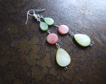 Garden Delight Mother of Pearl Beaded Dangle earrings