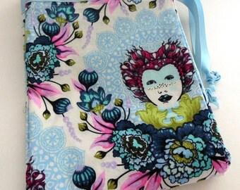 16th Century Elizabeth Selfie in Sky by Tula Pink Travel Laundry Bag, Sky Blue Elizabeth Drawstring Bag, Tula Pink Elizabeth Laundry Bag