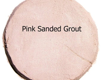 Mosaic Grout TRUE PINK 1 Pound Sanded Polymer Fortified Custom Blend Color for Craft Tiles and Home Projects Just Add Water
