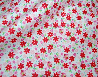 3 yds plus floral FABRIC daisy floral Riley Blake Hoo's in the forest