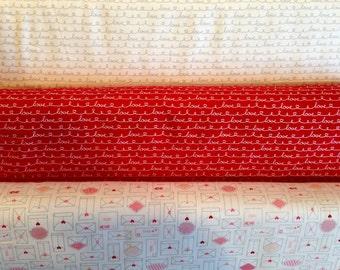 Lovebugs Collection -  Fabric By Riley Blake - Half Yard Set - 3 Prints - 14.95 Dollars