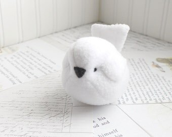 Kids Kawaii Plush Bird White Bird Stuffed Animal Childrens Handmade Plush Toy Bubbletime Fleece Bird White Plush Bird
