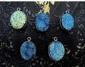 druzy necklace, druzy pendant, blue druzy necklace,  blue druzy pendan, druzy quartz necklace, drusy pendant, drusy necklace,  gift for her