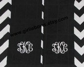 Custom Personalized Monogrammed Embroidered, Kitchen Towels, Bath Towels, Guest Towel Set of 2 Green White Black Red Tan