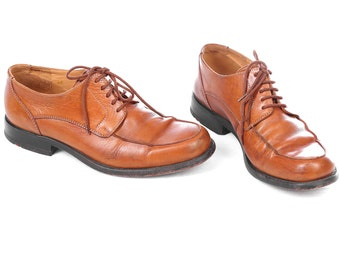 90s OXFORDS Real Leather Shoes 1990s Lace Up LLOYD Derby Oxford Bourbon Brown High Quality Wide Fit Eur 40, Us men 7, Us women 9.5, UK 6.5