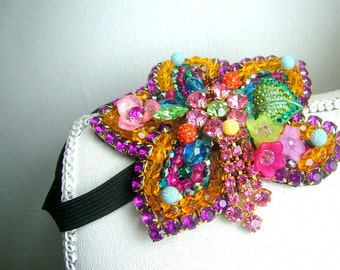Bright and Beautiful hairband - OOAK  - Ready to ship xx