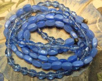Vintage Blue Glass Beads Supply