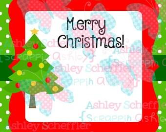 Christmas Tree Tags . Christmas Tree. Gift Tag. Printable. Favor Tag. Tag. Square Tag. Printable Tag. Instant Download. PDF File