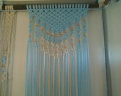 Fiber Art Macrame Knot Weaved & Beaded Curtain Panels by Craft Flaire