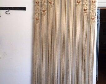 Door Curtain Macrame And Beaded For A Door