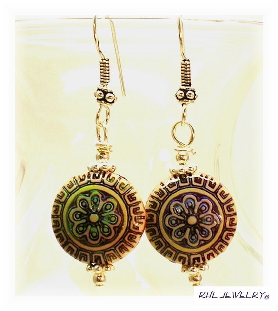 chagne colored earrings mood earrings color changing earrings bali ear wires 6446
