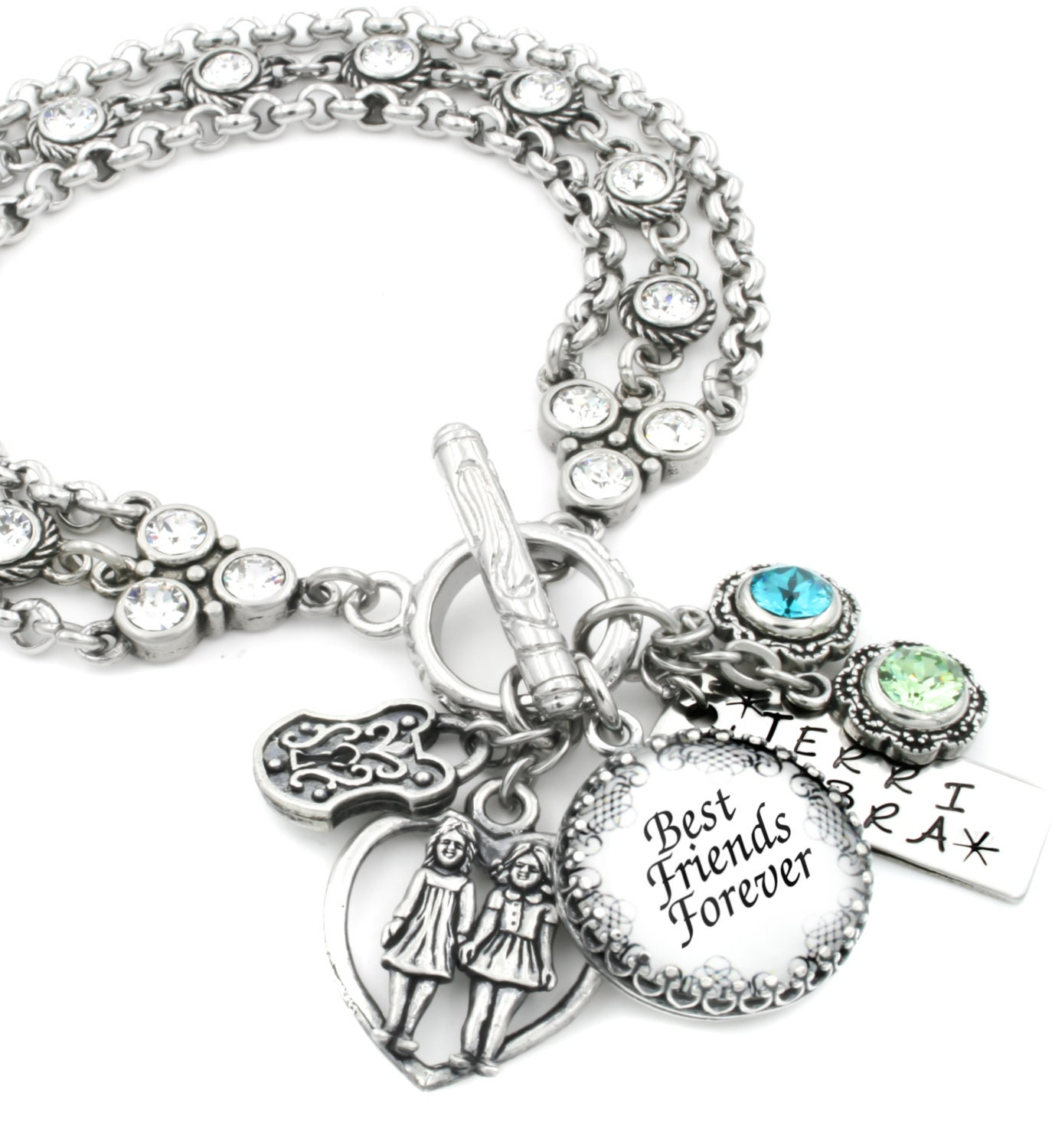 The Ultimate Best Friends Charm Bracelet Personalized Charm