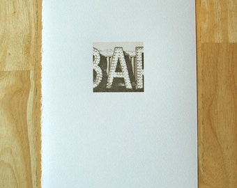 Letter A — Letterpress Print