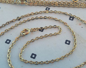 5 Gold Plated Vintage Chain with Clasp 18''