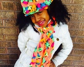 Little Diva Newsboy hat and scarf set