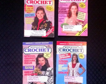 Quick & Easy Crochet January- August 1993/1994  4 Back Issues