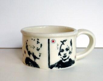 porcelain mug shot mug
