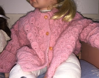 Vintage Hand-Made Girl's Pink Sweater