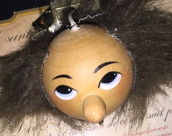 Vintage Wood Puppet Head