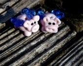 Flying Pig Pair, Lampwork Bead Pair, Simply Lampwork by Nancy Gant, SRA G55