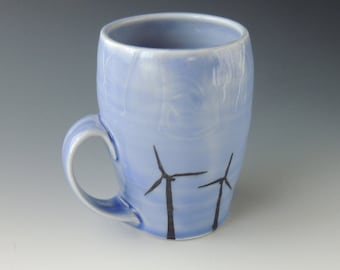 Wind Turbines and Cooling Towers Mug