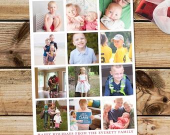 Instagram Christmas card, instagram photo new year card, holiday card with instagram photos, Christmas photo collage, instagram