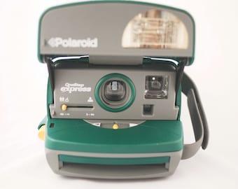 Green Polaroid OneStep Express Camera (Battery Tested)