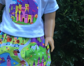 American Girl Doll clothes / 18 inch doll clothes - Cute Fairytale Skirt outfit