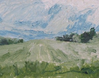 Art Original Trading Card ACEO 2.5x3.5 Landscape Oil Painting Small Miniature Impressionist Eastern Townships Quebec Canada Founier no201601