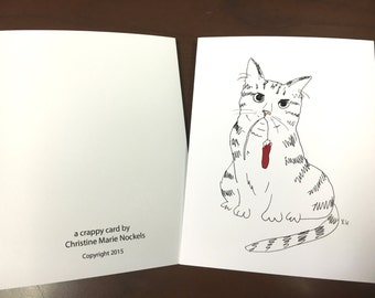 Tampon Tom Illustrated Greeting Card