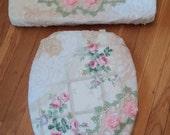 Love Vanilla Rose Original ...Shabby Victorian Toilet Seat Cover Set