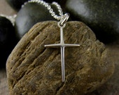Small Silver Cross Necklace, Delicate Silver Cross Pendant, Women's Cross Necklace, Tiny Silver Cross Necklace Women, Christian Jewelry