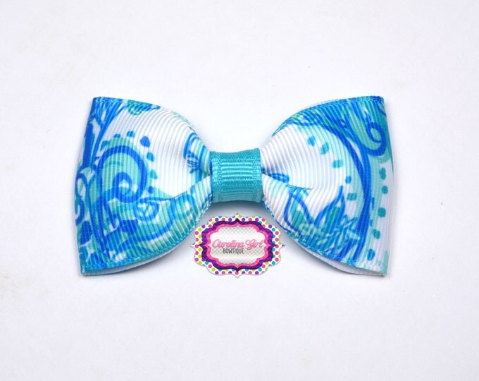"Back it Up ~ 3"" Hair Bow Tuxedo Bow ~ Lilly Inspired ~ Simple Bow ~ Boutique Bow for Babies Toddlers ~ Girls Hair Bows"