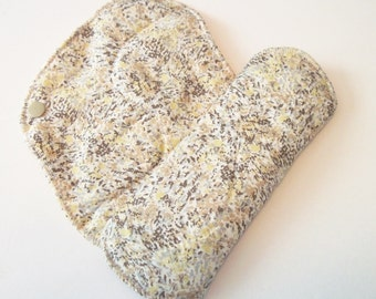 Set of 2 Neutral Marble Printed Reusable Cloth Mama Pads . 8 Inch FREE Shipping