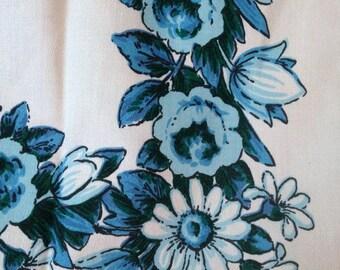 Vintage Napkins Set Blue Flower Napkins Set of 6 Blue Roses