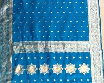 Benares Silk wedding scarf.