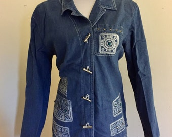 Shirt/Jacket Vintage Denim Blue Jean Southwestern