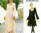 Vintage Sewing Pattern Vogue 1737 Tom and Linda Platt Misses' Evening Dress Size 6-8-10 Bust  30-32 inches  Uncut Complete