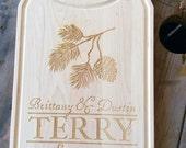 Personalized Cutting Board-Rustic Cutting Board-Woodland Cutting Board-Wedding Gift-Wedding Shower