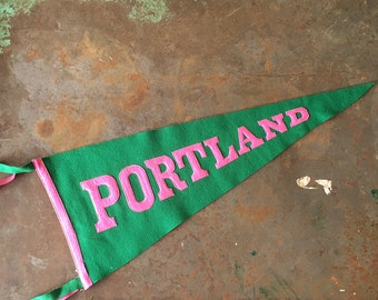 Portland Proud...Fun Vintage Felt Pennant