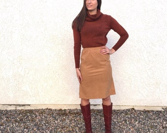 Vintage 70's faux suede Campus skirt