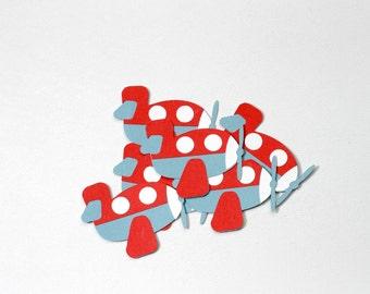 Airplane Die Cuts-Airplane Confetti-Airplane Die Cut-Airplanes-Airplane Birthday-Airplane Invitations-Paper Airplanes-Airplane Baby Shower