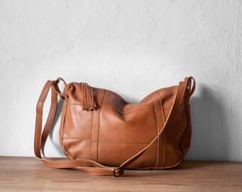 Leather Crossbody Bag in Caramel Brown, Crossbody Bag Brown, Leather Bag Brown, Leather Messenger Bag, Camel Bag, Shoulder Bag