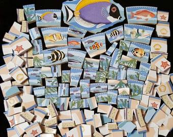 Mosaic Tiles 150 FISH FRY #2 Nice Sizes broken China mosaic Tile