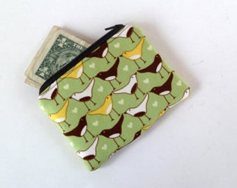 Coin Purse Small Zippered Pouch Birds