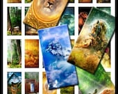 SALE 35% OFF Animals & Landscapes 1 X 2 Inch Rectangles Digital Download Collage Sheet Domino Necklace Pendants Keychains Magnets No. 13